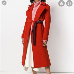 NEW Sportmax Red Belted Trench